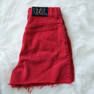 Vintage Steel Jeans high-rise shorts